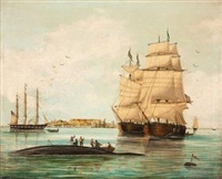 whalers in table bay by american school