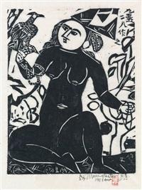 hawk woman by shiko munakata