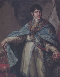 ferdinand vii, king of spain by josé (inglada) aparicio