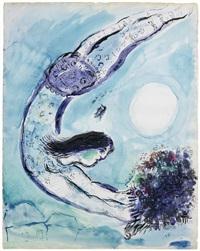 l'acrobate au cirque by marc chagall