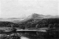 evening after rain, derwentwater by alfred abbey