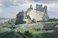 bamborough castle, northumberland by leonard russel squirrell