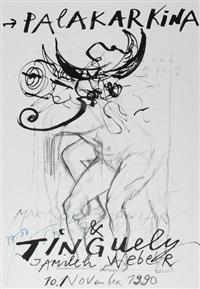 4 posters: märtyrer und gespenster by jean tinguely