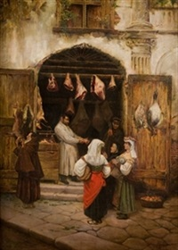carnicería en roma by joaquín agrasot y juan