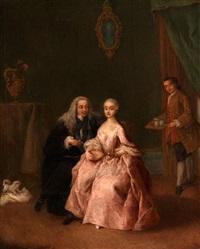 la visita alla dama (besuch bei einer dame) by pietro longhi