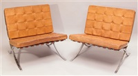 2 barcelona sessel by ludwig mies van der rohe