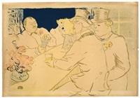 irish american bar, rue royale, the chap book by henri de toulouse-lautrec