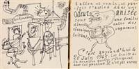 la métromanie ou les dessous de la capitale (portfolio w/text and illus.) by jean dubuffet