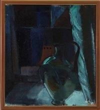 composition (+ another, oil on cardboard, lrgr; 2 works) by age vogel-jorgensen