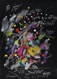poster. montreux jazz festival by jean tinguely