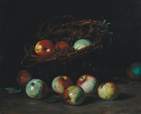 still life of fruit by charles félix edouard deshayes