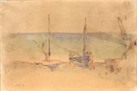 barche sulla spiaggia by ardengo soffici