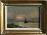 soir sur le port by firmin-barriere