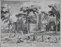 nyenroy, ver (frühling) (from jahreszeiten mit ansichten von schlössern aus der umgebung amsterdams after vinkboons) by hessel gerrits