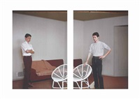 material for a double self-portrait (diptych) by jeff wall