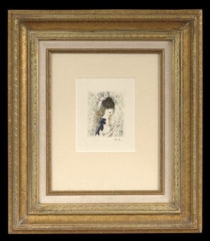 visage de femme and jeunne femme (2 works) by marie laurencin
