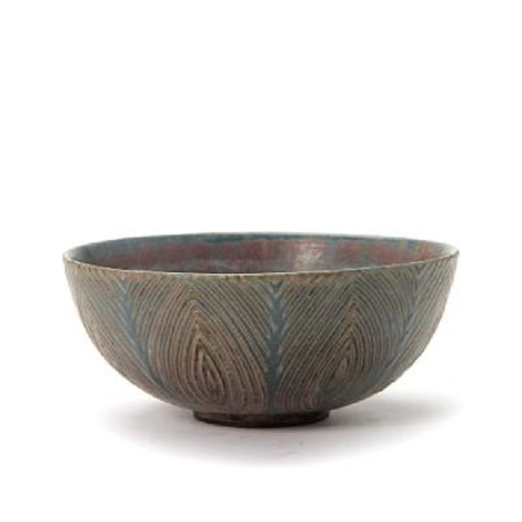 small bowl exterior modelled with rifled pattern by axel johann salto