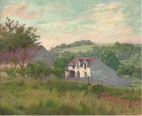 a country house in summer by charles-jean agard