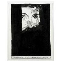 untitled (i looked around the room and everybody was doing something.) by raymond pettibon