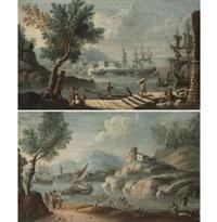 paesaggio fluviale e portuale (pair) by anonymous (18)