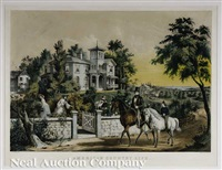 american country life. may morning by currier & ives (publishers)