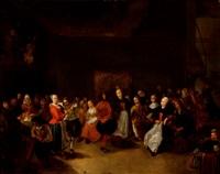 fiesta de boda en un interior by gerrit lundens