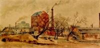 factory scene by otto stark