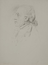 brustbild eines herren im profil by anton graff
