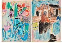 a: untitled; b: untitled (2 works) by wu dayu
