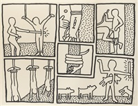 blueprint drawing by keith haring