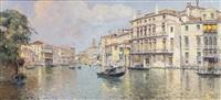 the grand canal in front of the palazzo balbi by antonio maría de reyna manescau