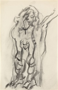 untitled (adam) by willem de kooning