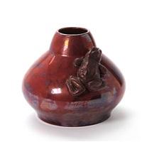 vase modelled with frog by karl frederik christian hansen-reistrup