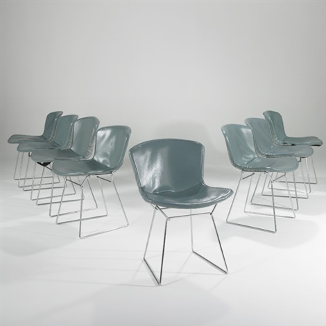 side chairs set of 8 by harry bertoia