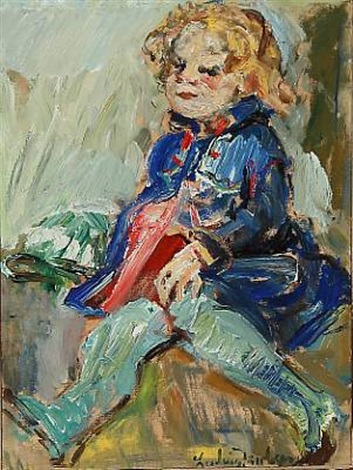 a little girl by ludvig jacobsen