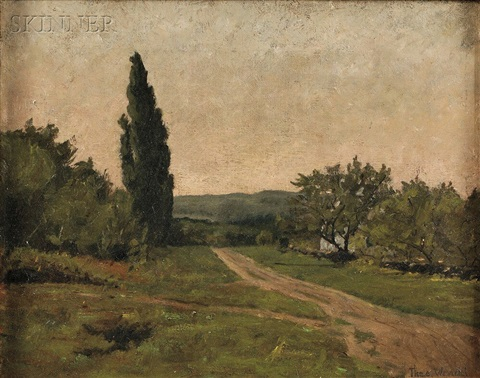 french landscape with cypress tree by theodore wendel