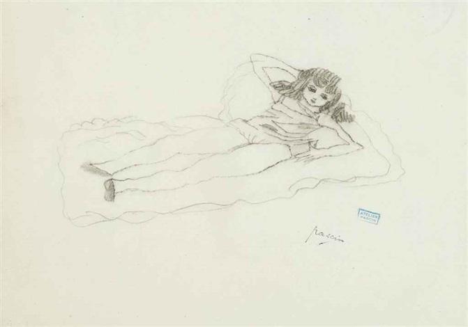 jeune femme alongée and trois femmes 2 works by jules pascin