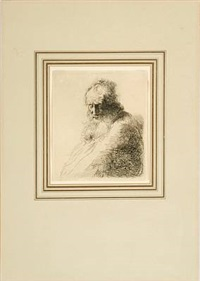 portrait of an old, bearded man by jan andreas lievens the younger