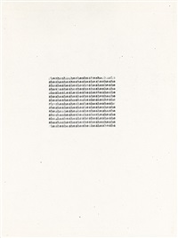 flowerflowerflowerflowerflower (from the series: one hundred sonnets) by carl andre