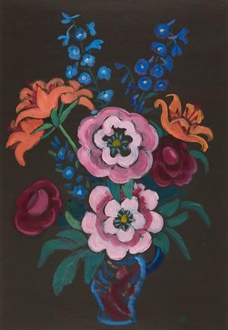 päonien feuerlilien und rittersporn by gabriele münter