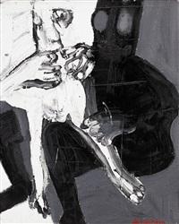man och kvinna, svart by bengt lindström