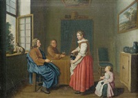 familiäres stubeninterieur by jan josef horemans the younger