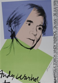 poster. kunsthaus zürich, andy warhol, 26. mai - 30. juli by andy warhol