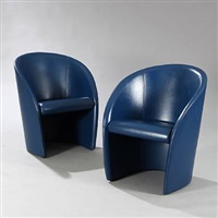 intervista easy chairs (pair) by lella and massimo vignelli