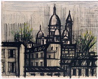 paris, le sacré-coeur by bernard buffet