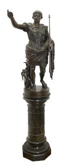caesar holding a scepter by benedetto boschetti