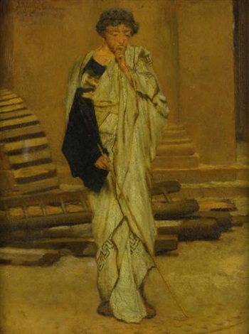 the roman architect by sir lawrence alma tadema