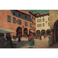 italian city scene by pauline palmer