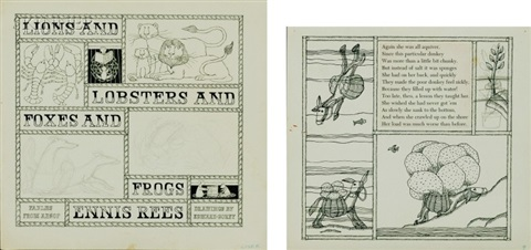lions and lobsters (+ foxes and frogs; 2 works) by edward gorey