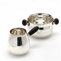 sugar bowl and creamer (set of 2) by georg jensen (co.)